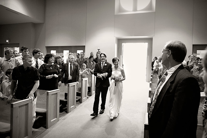bride down aisle at minneapolis wedding