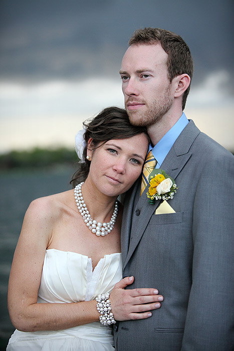 bride and groom on docks - lake minnetonka wedding 02