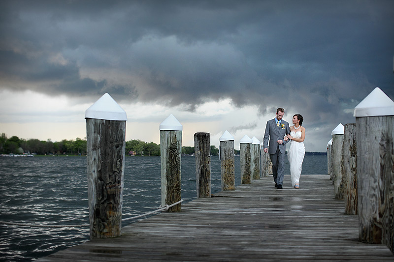 stormy spring lake minnetonka wedding by studio 306 photographers