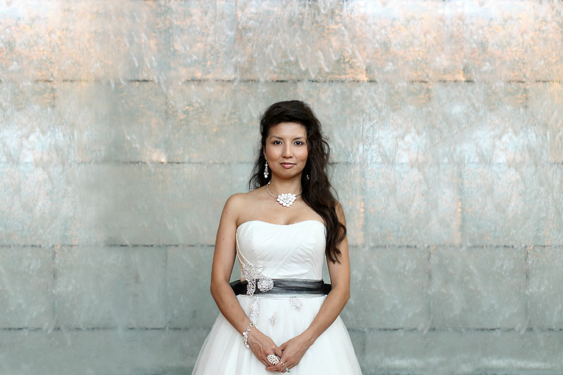 bridal portrait at blue apartments by studio 306 wedding photographer