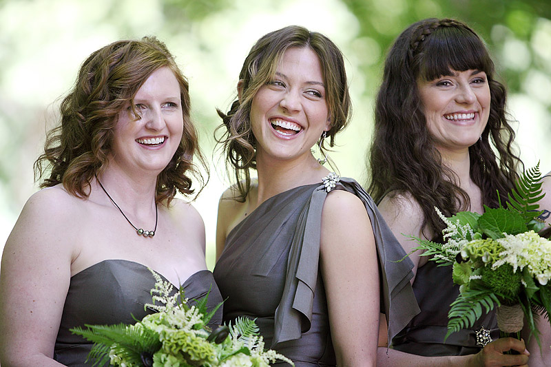 Bridesmaids at Woods Chapel wedding - studio 306
