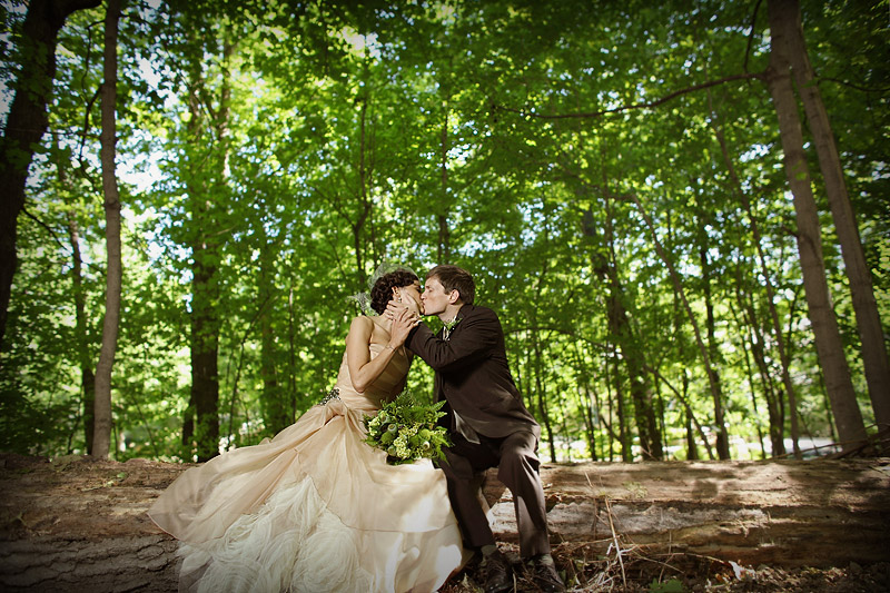 Forest wedding in minneapolis