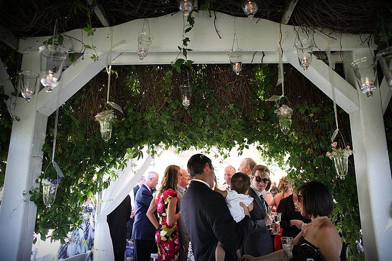 Roche Harbor wedding - cocktail hour