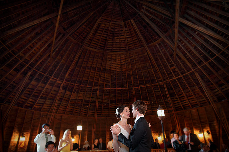 wedding reception dance at round barn farm reception