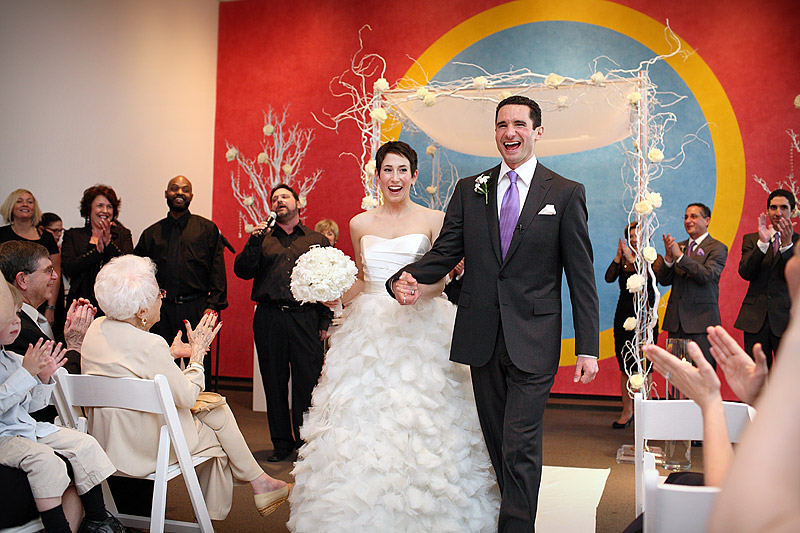 wedding ceremony at gallery 8 walker art center