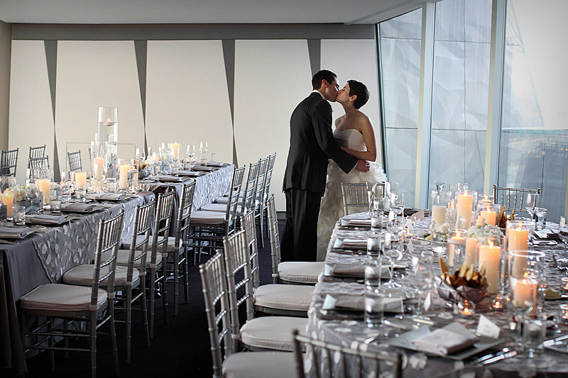 skyline room wedding reception at walker art center