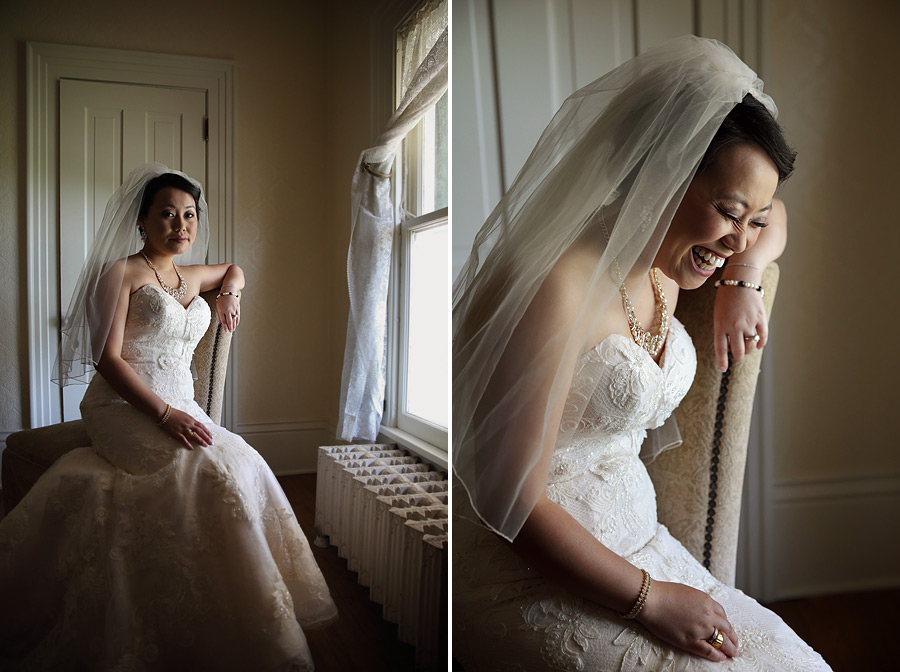 Bride at Cedarhurst Mansion