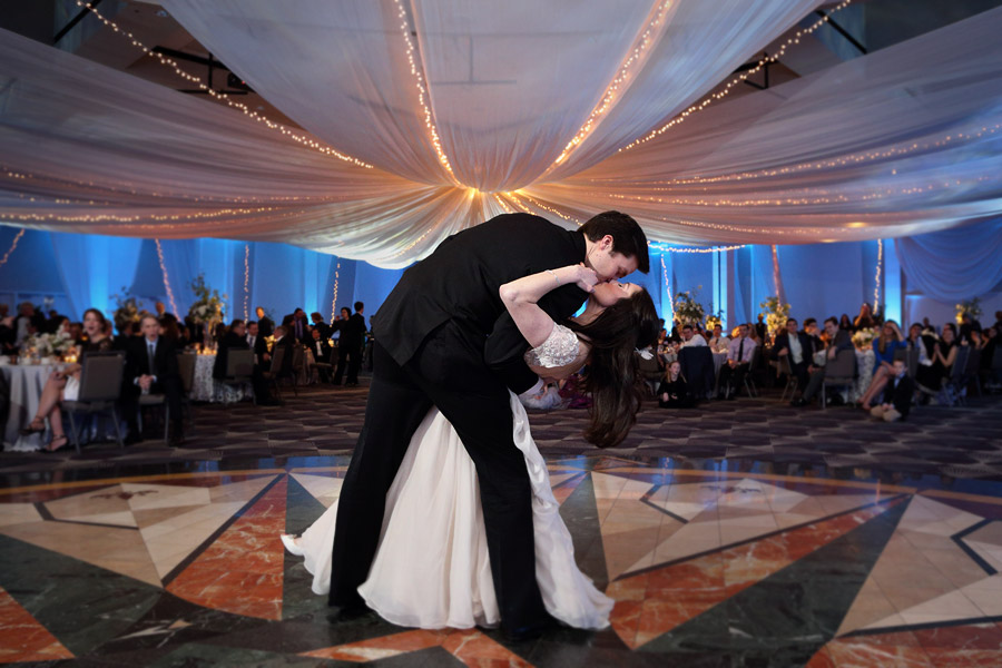 Bride and Groom Dance at Intercontinental Hotel Wedding Reception, St. Paul