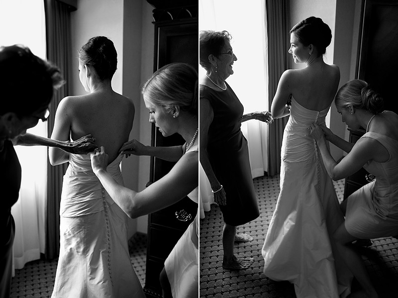 Bride getting ready at St. Paul Hotel