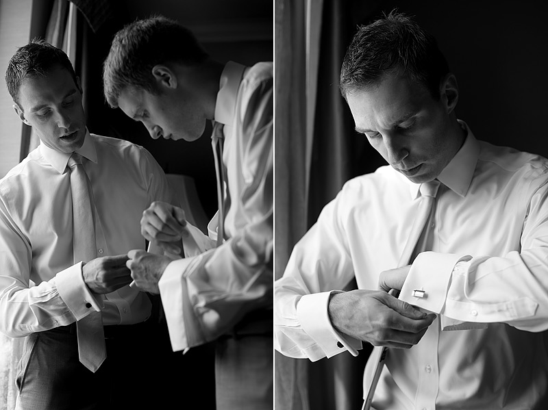 Groom Getting ready at St. Paul Hotel Wedding Reception 02