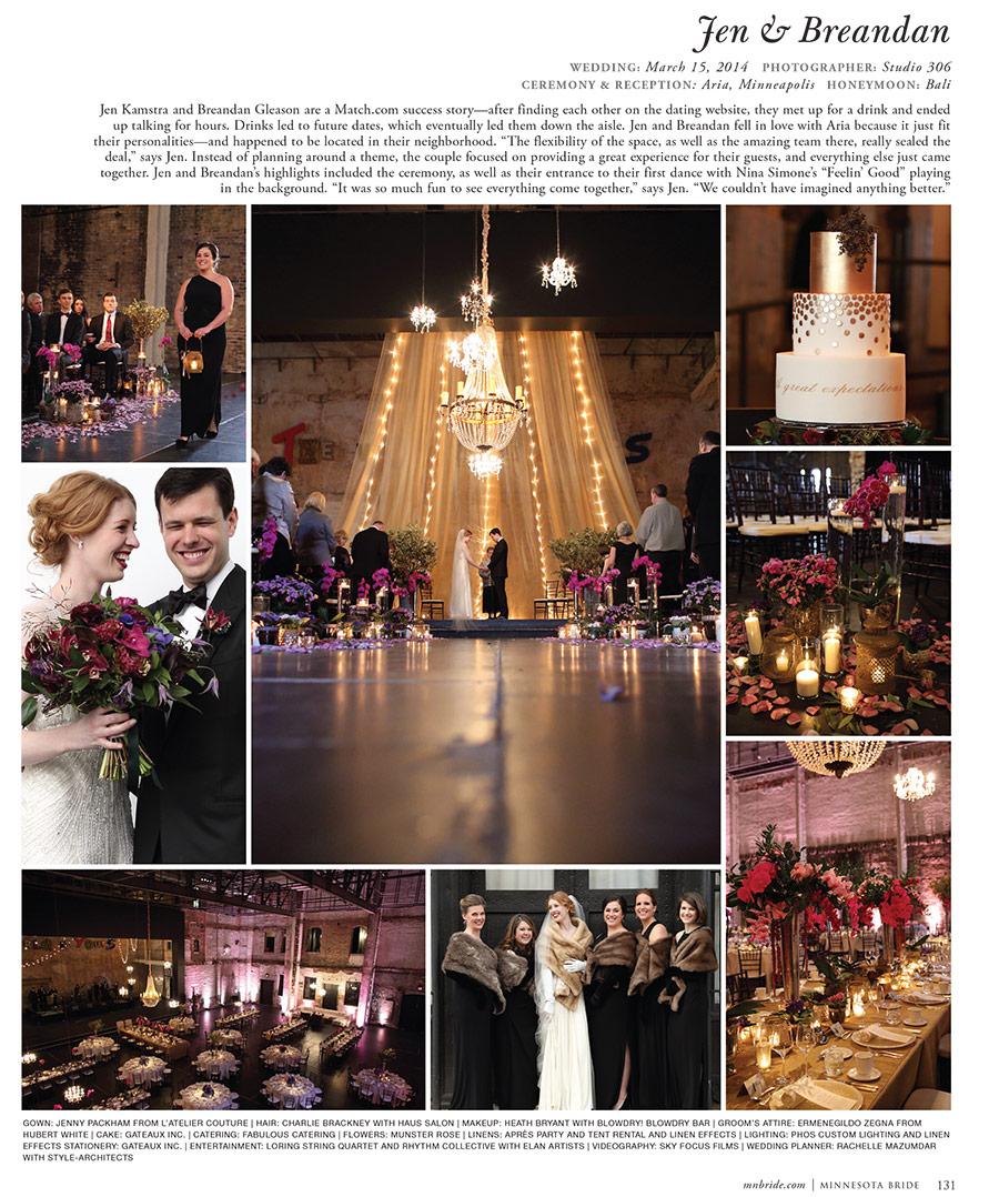Minnesota Bride Magazine SpringSummer 2015 Studio 306
