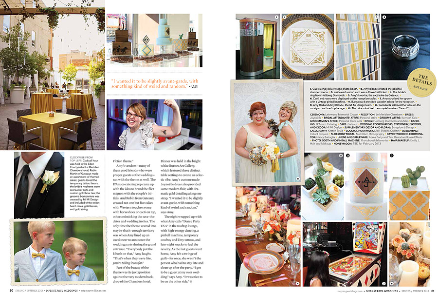 Minneapolis Saint Paul Weddings Magazine - Studio 306 2013